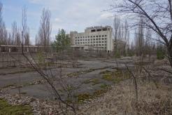 Op reportage in Tsjernobyl.